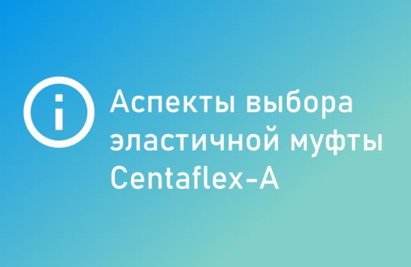 аспекты выбора эластичной муфты centaflex a